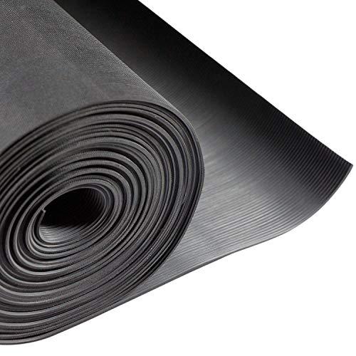 10m² Feinriefenmatte | 1,0 x 10 m | Stärke: 2,5 mm | Farbe: Schwarz