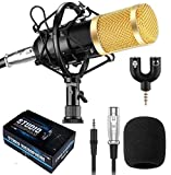 Techtest BM800 Condenser Microphone Kit, Professional Cardioid Studio Condenser Mic Include Shock Mount
