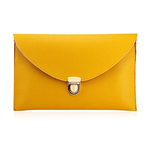 FASHIONABLE DESIGN: Light weight minimalist designer purse inspired by Korean fashion. Let's not let the bag you carry be heavier than what is inside. Great for everyday use and short travel trips. SPACIOUS AND VERSITILE: 11 x 7 Shoulder Chain Strap;...