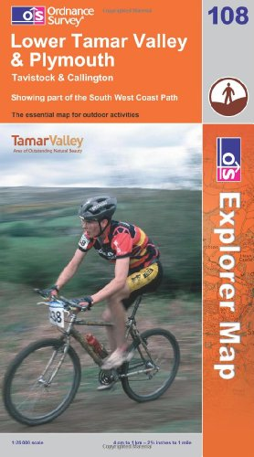 OS Explorer map 108 : Lower Tamar Valley & Plymouth