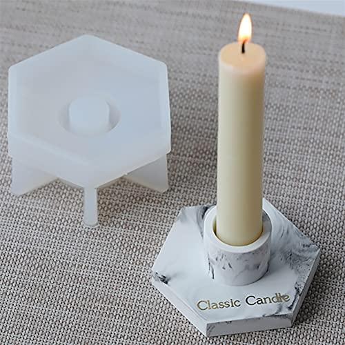 YGUIYONG Moldes de Resina Molde de Resina de cenicero de candelabros Hechos a Mano para DIY UV EXPOY Craft Candel Herramientas (Color : Candlestick)