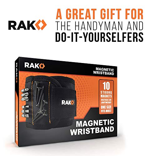 Product Image 7: RAK Magnetic Wristband with Strong Magnets for Holding Screws, Nails, Drill Bits for DIY Handyman, Father/Dad, Husband, Boyfriend, Him, Men, Women (Black)
