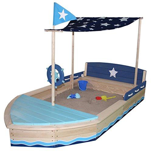 5. Sun Sandkasten Sternen-Schiff aus Holz