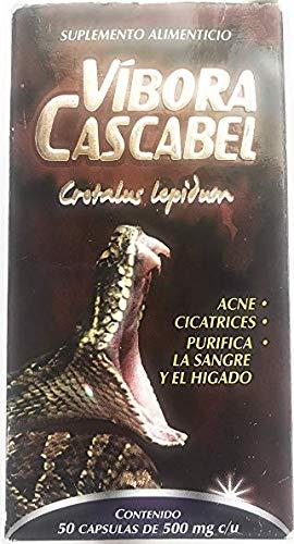 Vibora Cascabel 50 Capsules 500 mg ea. Cascabel Snake Rattlesnake Powder