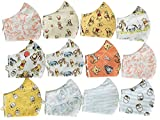 Triple Layer Face Mask Covering for Winnie The Pooh, Eeyore, Tigger, Piglet Lovers 100% Cotton with Adjustable Earloops, Robust Nose Wire, Filter Pocket For a 3rd Party Filter Sheet
