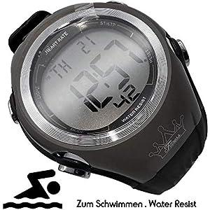 Monitor frecuencia cardíaca correa para pecho Medición frecuencia cardíaca y gimnasios ANT Área entrenamiento, consumo calorías Quema grasa Reloj deportivo Impermeable (natación)