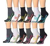 Ronnox Women's 12-Pairs Running & Athletic Sports Performance Ankle/Quarter Socks