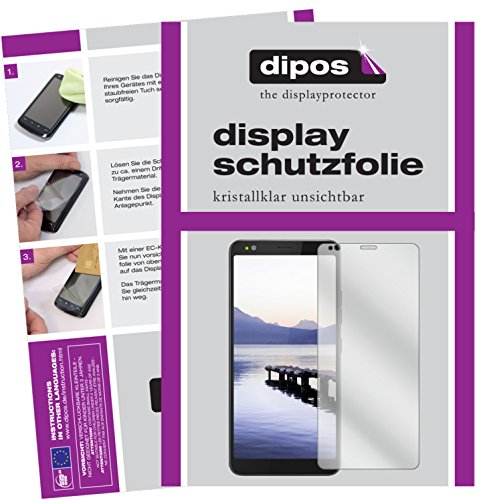 dipos I 2X Schutzfolie klar kompatibel mit Gigaset GS370 Plus Folie Bildschirmschutzfolie