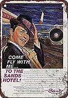 Frank Sinatra The Sands Hotel Las Vegas 金属板ブリキ看板警告サイン注意サイン表示パネル情報サイン金属安全サイン
