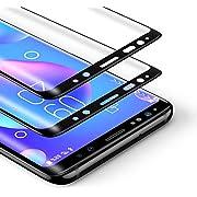BANNIO 2 Stück für Panzerglas für Samsung Galaxy S9, HD Ultra-klar Panzerglasfolie Full Sreen, 9H Härte, Anti-Kratzen, Leicht Anzubringen,Vollständige Abdeckung - Schwarz