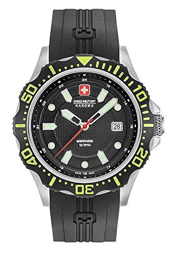 Swiss Military Hanowa Reloj Analógico para Hombre de Cuarzo con Correa en Silicona 06-4306.04.007.06