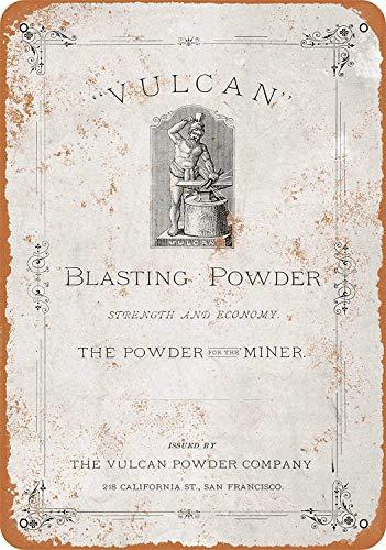 Yilooom 1880 Vulcan Blasting Poeder - Vintage Metalen bord Nieuwigheid Wandplaat Muurdecoratie Accessoires Geschenken 6 X 9 Inch