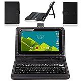 NAUC Vodafone Tab Prime 6/7 Tastatur Tasche Tablet Keyboard USB Hülle Cover Case