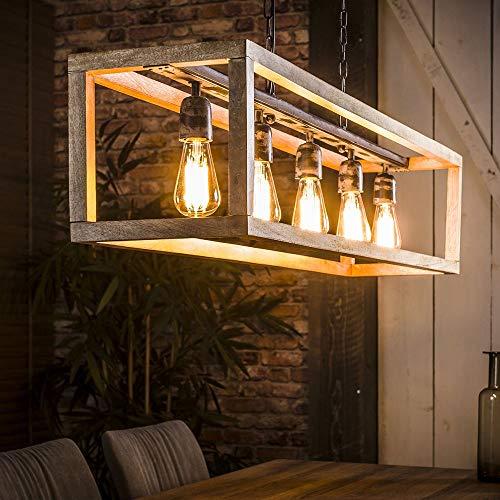 famlights Industrial Glühbirne | Vintage Lampe braun| Lampe Kupfer / 5-flammig Dimmbar Fassung: E27 Küchenlampe Deckenleuchte | Deckenlampe Vintage Retro Industrie / E27