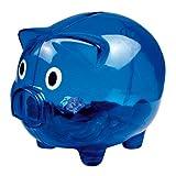eBuyGB Tirelire en Plastique Transparent Bleu