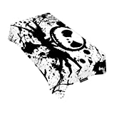Moslion Decorative Rectangle Table Cloths Splashing Ink Black White Nightmare Before Christmas Tablecloth Table Cover for Dining/BBQ/Picnic/Coffee Table 60 X 90 Inches