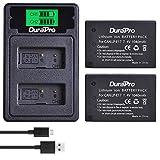DuraPro Pack de 2 baterías LP-E17 para cámara + cargador dual USB con puerto tipo C para Canon EOS M3 M5 M6 200D 77D 750D 760D 800D 8000D Kuss X8i Rebel T6i T6s cámara