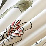 HYSENM 1/2/3/4 Sitzer Sofabezug Sofaüberwurf Stretch weich elastisch farbecht Blumen-Muster, Beige 1 Sitzer 85-140cm - 3