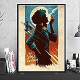 KWzEQ HD Lienzo Vaquero Anime Poster Moderno Artista de la Pared decoración del hogar Arte,Pintura sin Marco,40X60cm