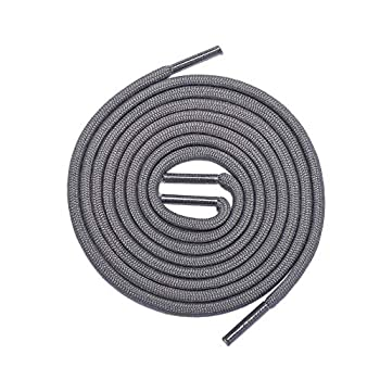 Thick Shoelaces Round Athletic Shoe Laces  2 Pair  - For Sneaker and Hiking Boot Laces  45  inches  114 cm  Dark Gray