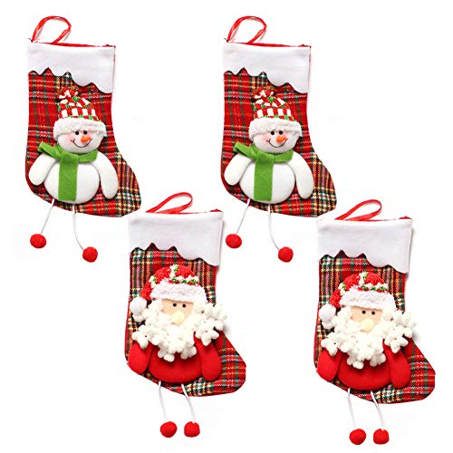 Medias de Navidad, INTVN Christmas Stocking Calcetines Decoración Navideña Caramelo Regalo Bolsa (Santa Claus +...