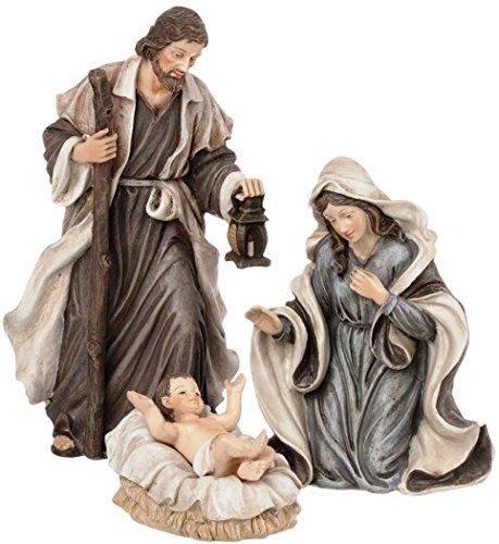 Holy Family 3 Piece 6' Resin Stoneware Nativity Set