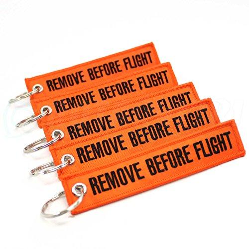5pcs Neon Orange//Black Rotary13B1 Remove Before Firing Keychain