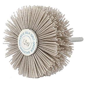 82mm Diameter 240 Grit Abrasive Nylon Wheel Brush Grinding Polishing Tool