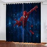 Rideau Occultants Spiderman étoilé bleu Rideau...