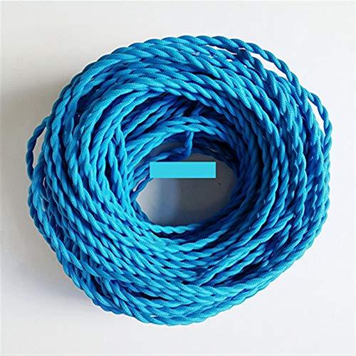 Ztengyu-Cable metálico 0.75mm * 2 núcleo Alambre de Cobre eléctrico, Tejido Torcido Vintage Tejido, 2 cordón de Cable de Textil Colgante lámpara de iluminación de Cable Ampliamente Utilizado