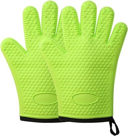 Ouken Silikon-Finger-Schutz-H/ülsen-Isolierung Anti-Rutsch-Finger-Abdeckung f/ür Kochen Hitzebest/ändige Barbecue Potholder