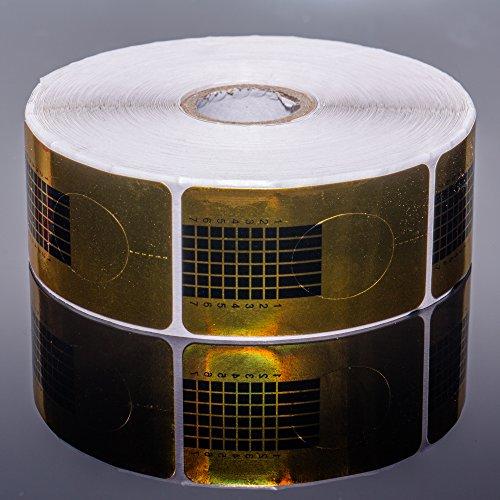 RM Beautynails 500 Gold pochoirs à ongles de modelage Pochoir Lot de 500 pochoirs - Pochoirs à ongles dorés gel UV et acrylique