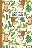 Monkey Black Page Notebook: Monkey Notebook Cute Baby Monkey Blank Lined Notebook: 100 Pages 6x9