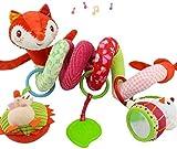 Spirale d'activité avec Jouets à Suspendre à la Poussette, au Landau ou au lit de bébé Petit Renard