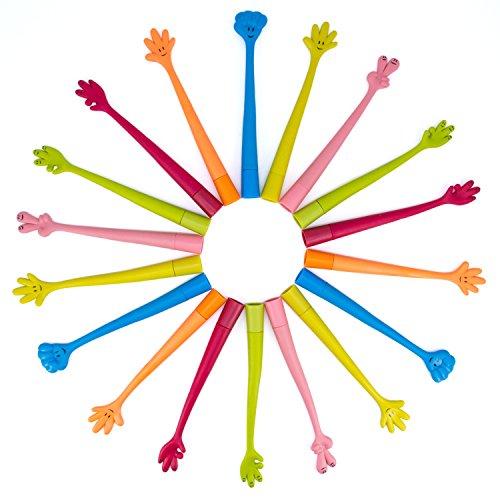 Creative Kugelschreiber, von WOCLHJ, in Form von Fingern, biegbare Kugelschreiber, 12Stück, für neugierige Kinder, Spielzeug, Schule, Bürobedarf, Schreibbedarf