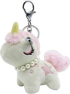 Stuffed Unicorn Keychain Soft Plush Animal Key Chain Ring Purse Bag Pendant Hanging Charms for Girls Teens