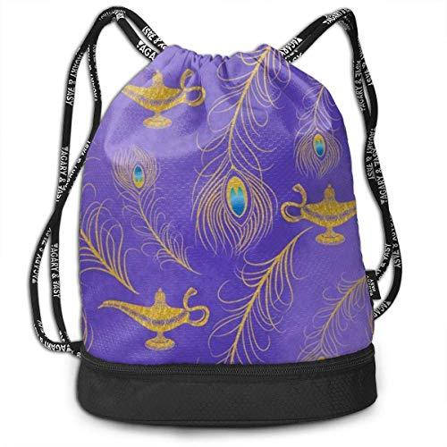 XCNGG Drawstring Bag Stylish Aladdin Lightweight Sackpack Sport Gym Bundle Backpack