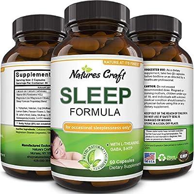 Best Natural Revitalizing Sleep Formula - End Fatigue - Supports Deep Uninterrupted Sleep - Non Addictive Supplement - Magnesium L-Theanine GABA - Purest Herbal Ingredients