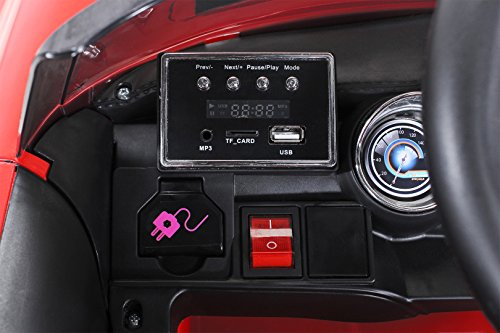 RC Auto kaufen Kinderauto Bild 3: Actionbikes Motors Kinder Elektroauto Mini Cooper Eva Reifen Ledersitz Kinderfahrzeug Kinderauto in vielen Farben (Rot)*