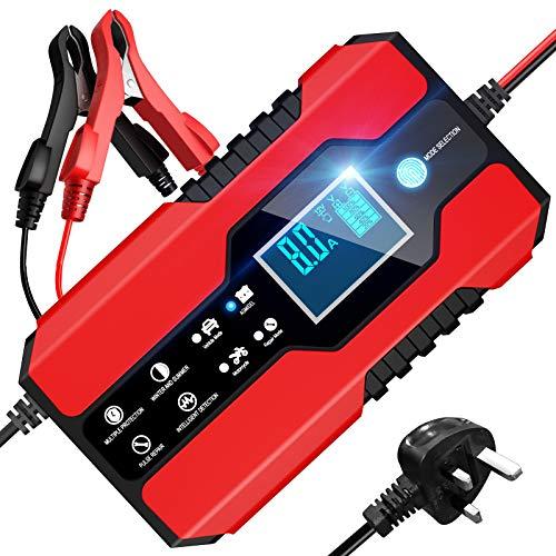 BURNNOVE 8A 12V / 24V Vehicle Battery Charger Fully Intelligent Multiple...
