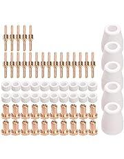 VANOLU 65 st plasmaskärare spetselektroder och munstyckesats förbrukningsbara tillbehör för PT31 30 40 50 plasmaskärare svetsverktyg