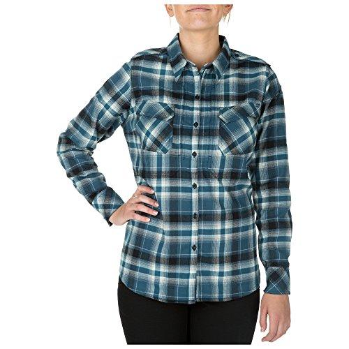 5.11 Tactical Series Chemise Heartbreaker Flannel Chemise à Carreaux en Flanelle très Confortable Femme Neptune FR: XL (Taille Fabricant: XL)