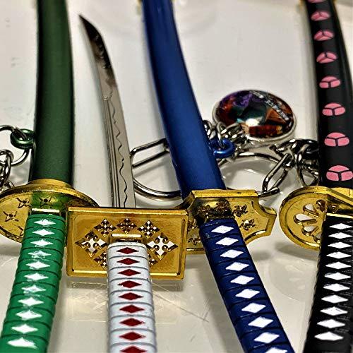 Anime One Piece Lorenor Zorro Roronoa Zoro Schwert Schlüsselanhänger Sword Keychain 15 cm (Schwarz / Yubashiri)