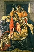 Lamentação sobre o Cristo Morto Renascimento Italiano 1495 Pintura de Sandro Botticelli na Tela em Vários Tamanhos (120 cm X 80 cm tamanho da imagem)