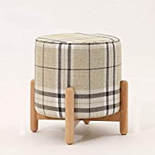 Chairs Home Stool Cloth Art Stool Solid Wood Children Sofa Stool