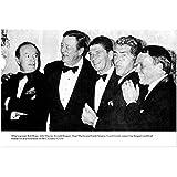 John Wayne The Duke 8 Inch x 10 Inch Photo Black & White Pic Tuxedos w/Bob Hope, Ronald Reagan, Dean Martin & Frank Sinatra kn