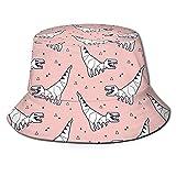 Funny Vute Sombrero de cubo simple dinosaurios origami plegable unisex sombrero de playa sombrero de pescador para vacaciones, escuela, compras, senderismo