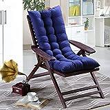 JIAAN Cojín reclinable Colchoneta para Tumbona Portable Color Puro para Sillón de Exterior,Cojín de Silla reclinable extraíble de jardín Patio Cojín de Repuesto para Tumbona de Interior y Exterior