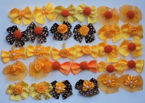 JJ Couture 40 Dog Grooming Hair Bows