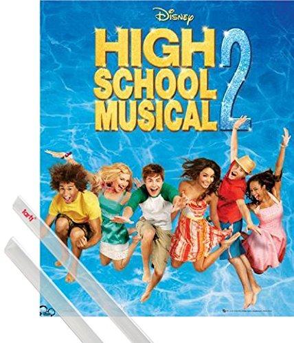 1art1 High School Musical Póster Mini (50x40 cm) 2, Album Y 1 Lote De 2 Varillas Transparentes